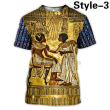 Load image into Gallery viewer, Horus Ancient Horus Egyptian God Eye of Egypt Pharaoh Anubis Face 3d T-shirt Funny Harajuku Short Sleeve