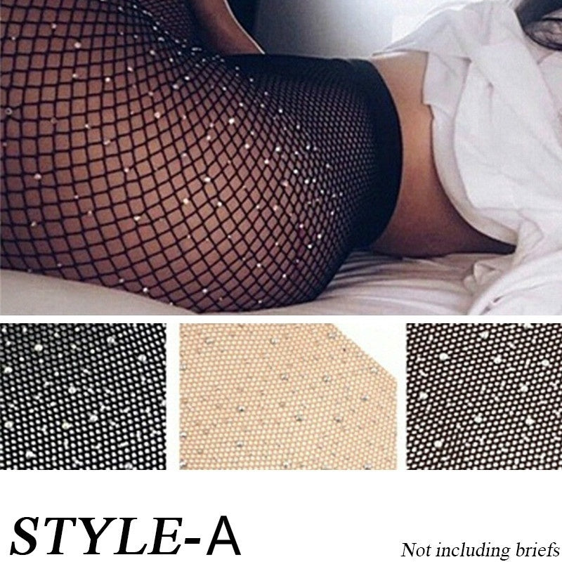 Women's Fashion High Quality Open Sheer Pantyhose Silk Stockings Tights Lingerie Hosiery, Stockings, Tights