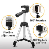 Aluminium 50-150cm Telescopic Tripod For Camera Smart phone Stand Holder Universal Adjustable