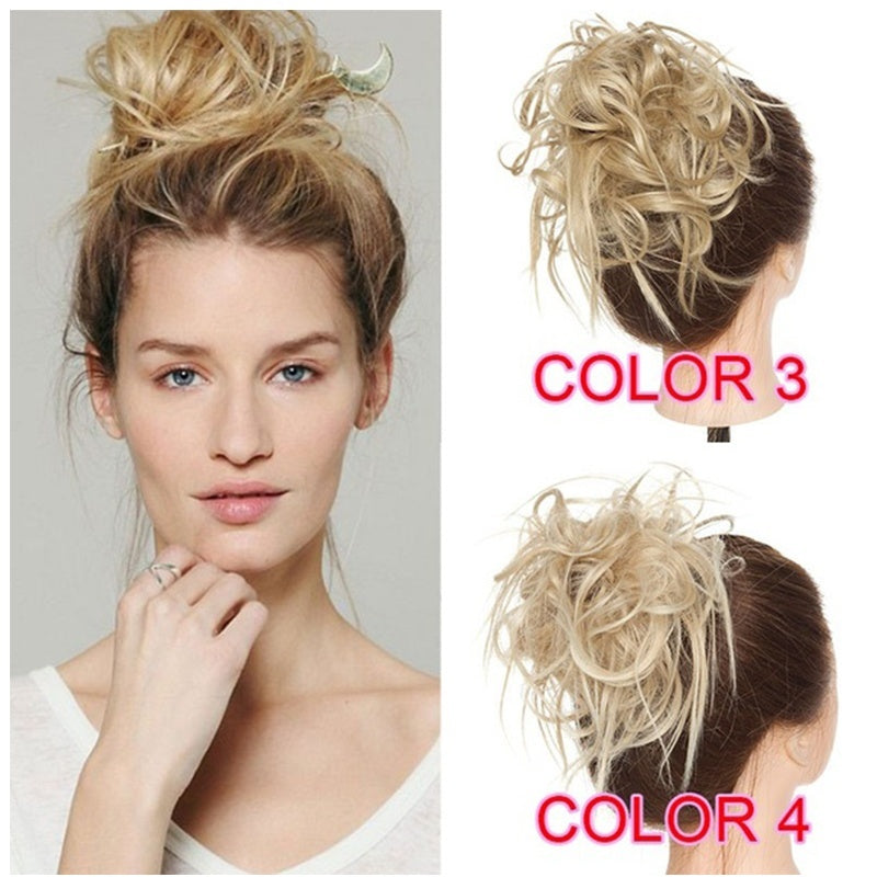 1/2Pcs Large Messy Scrunchie Bun Hair Piece Wrap on Updo Synthetic Hair Extensions Natural  chaotisch Scrunchie Haarteil Wrap