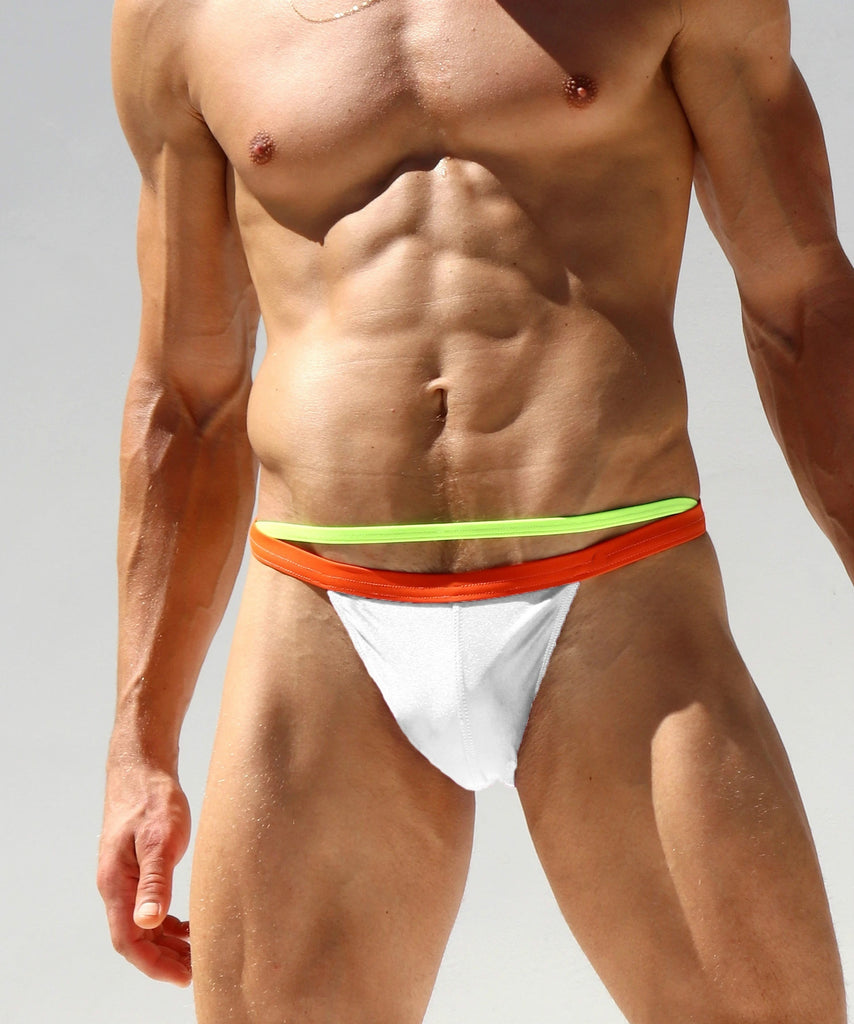 New Men's Fashion Separate Double-waist Swim Briefs Summer Beach Swimwear
