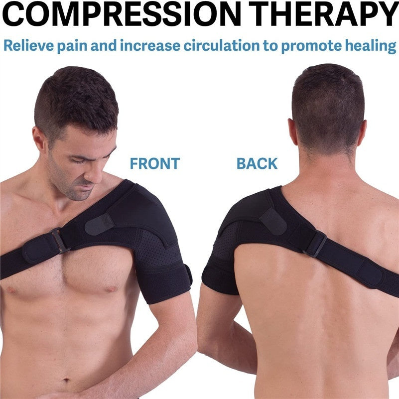Shoulder Brace for Men and Women+ Bonus   for Torn Rotator Cuff Support,Tendonitis, Dislocation, Bursitis, Neoprene Shoulder Compression Sleeve Wrap
