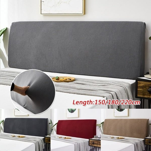150-220CM Dustproof Elastic Bed Headboard Slipcover Protector Cover Soft Solid Colors