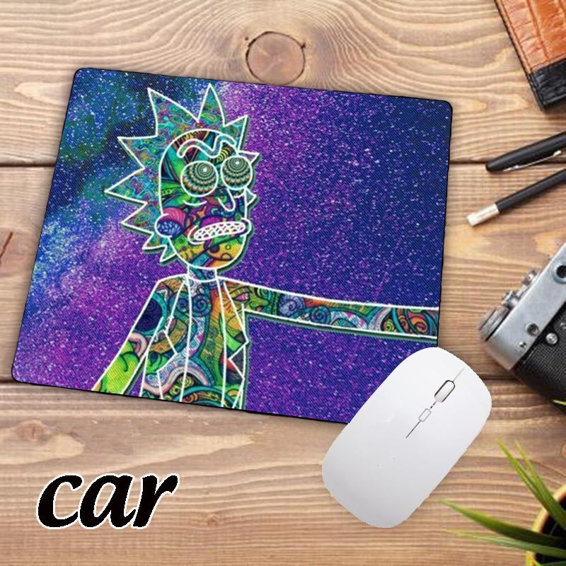 Rick and Morty Anime Office Mice Gamer Soft Large Locking Edge Mouse Pad Gaming Mousepads
