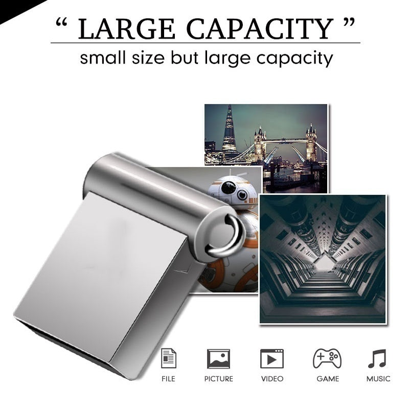 Super mini 32GB pendrive metal USB flash drive 4gb 8gb 16GB 32GB 64GB pen drive USB2.0 tiny memory stick U Disk cle usb