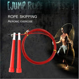 Professional Weighted Jump Rope Crossfit 3M Steel Wire & Steel Bearings Length Adjustable & Anti-Slip Handle Speed Rope for Adult/Children Exercise Training Double Unders MMA WOD