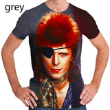 Europe and America Music Singer David Bowie 3D Printed Hip Hop Rock Punk T Shirt Casual Short Sleeve Tee