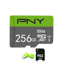 Load image into Gallery viewer, 2020 new PNY high speed 256GB 128GB 64GB USB drive Micro SD Micro SDHC Micro SD SDHC card 10 UHS-1 TF memory card + card reader