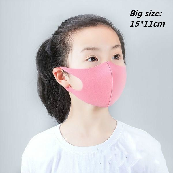 3pcs Kids Outdoor Cycling Anti-Virus Anti-Dust Haze Sponge Mouth Face Mask Respirator Face Masks Safety Anti-fog