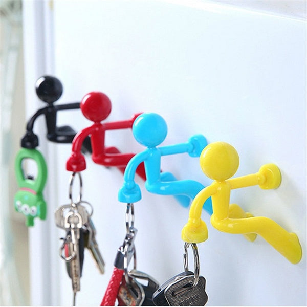 trend Creative wall climbing key pendant magnet key hanging strong magnetic keychain