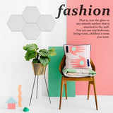 Hexagonal 3D 12Pcs/set 3D Hexagonal Stickers Mirror Stickers Acrylic Paste Decorative Mirror Home Floor Living Room Decoration DIY Modern Art Mirror Wall Mural Decoration