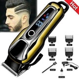 Professional Turbocharged Rechargeable Hair Clipper LED Display Electric Hair Trimmer for Men Cutter Hair Cutting Machine Haircut Barber
