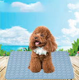 Pet Dog Cat Sleeping Pad Dog Cool Mattress Cushion Ice Silk Pet Cooling Mat Chilly Mat Soft Bed Indoor Cushion 40*30-100*70cm