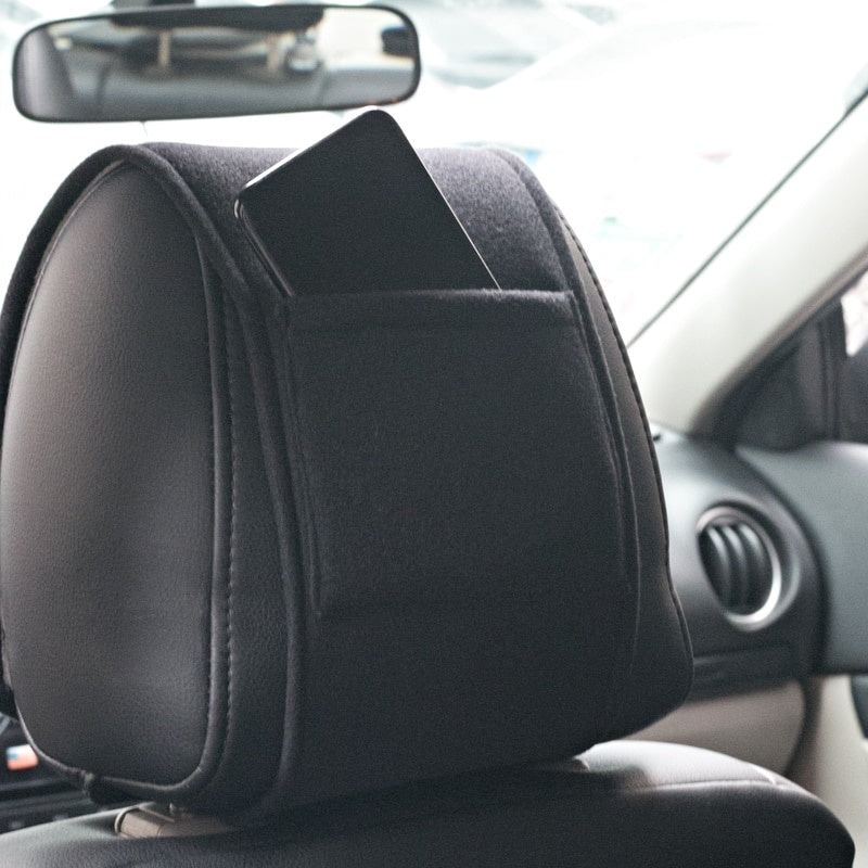 2PCS car headrest cover neck pillow case fit for Dodge caliber ram 1500 caravan charger grand caravan Accessories Car Styling
