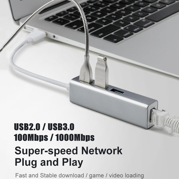 USB Ethernet USB 3.0 2.0 To RJ45 Hub 10/100 / 1000M Ethernet Network Adapter USB Lan for Macbook Windows