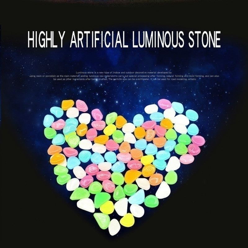 1PCS / 20PCS / 40PCS Glowing stones in the dark, garden aisle lawn decoration, pebbles in water tank