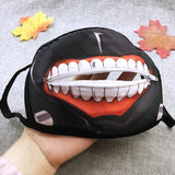 Cartoon Tokyo ghoul zipper masks popular in winter