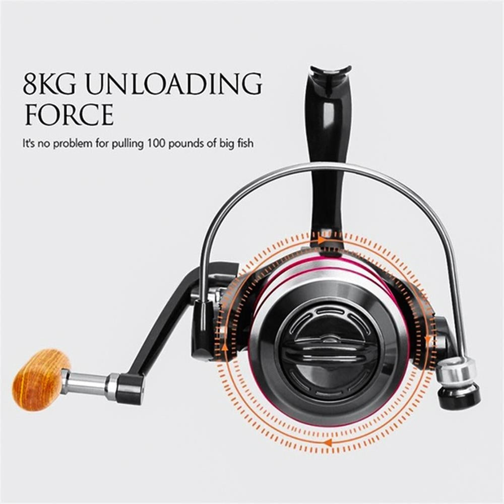 NEW Fishing Reel Bearing Quantity 12 Fishing Reel All Metal Spool Spinning Reel 8KG Max Drag Stainless Steel Handle Line Spool Saltwater Fishing Accessories