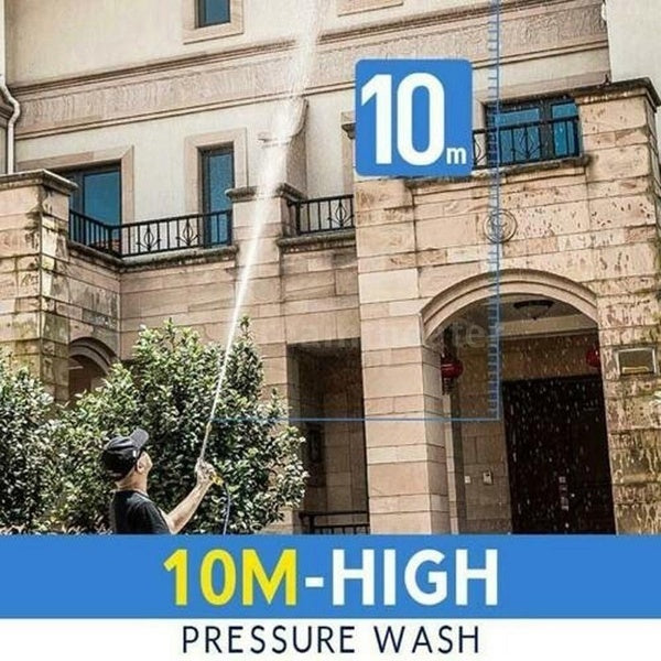 2-in-1 Removable High Pressure Washer 2.0 Jet Nozzle Foam Cleaning Gun Nozzle Safely Clean High Impact Washing Wand Water Spray Washer for Home Application Wood Brick Concrete Plastic Glass Cleaning