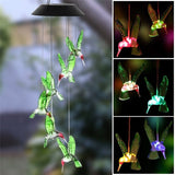 Creative Home Lawn Solar Wind Chime Light Hanging Night Lights Waterproof Color Changing Wind Bell Light