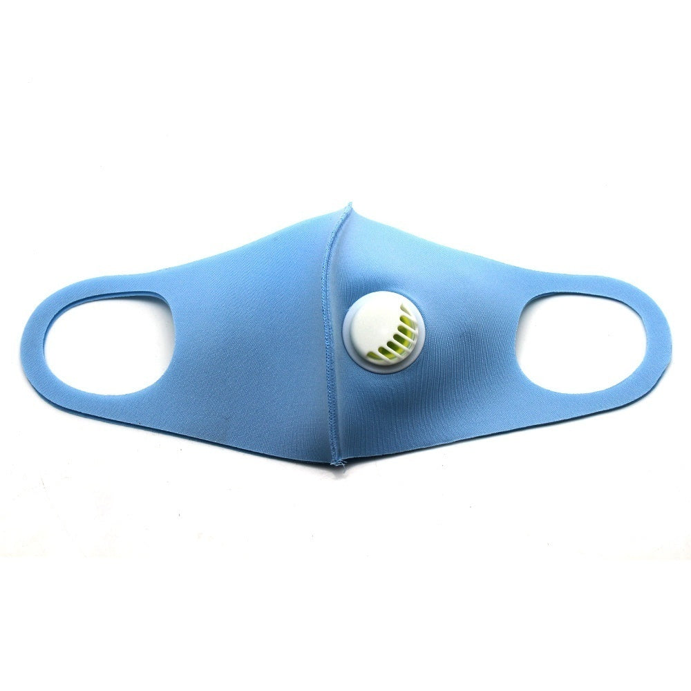 1Pcs 3D Cropped Cotton Mouth Mask With Breath Valve Anti Air Dust and Smoke Reusable Respirator for Man Woman