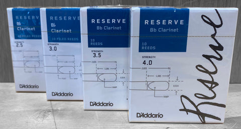 D'Addario Reserve Clarinet Reeds - Box of 10