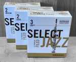 D'Addario Select Jazz Filed Soprano Saxophone Reeds - Box of 10