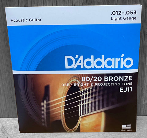 D'Addario EJ11 80/20 Light Acoustic Strings 12|53