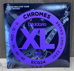 D'Addario ECG24 Electric Chromes Flat Wound Strings - 11|50