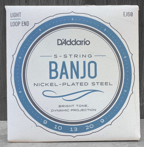 D'Addario EJ60 5-String Loop End Light Banjo Strings