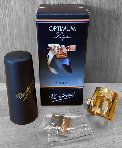 Vandoren Optimum Ligature - Alto Sax (Gold-Plated)