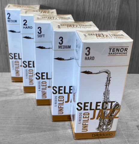D'Addario Select Jazz Unfiled Tenor Saxophone Reeds - Box of 5