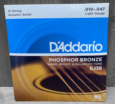 D'Addario EJ38 12-String Light Acoustic Strings 10|47