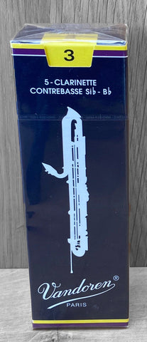 "Vandoren ""Blue Box"" Contrabass Clarinet Reeds - Box of 5"