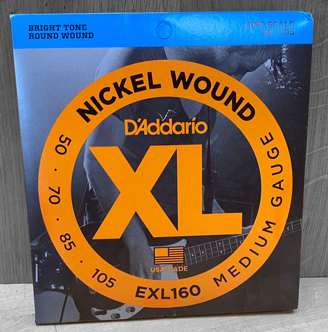 D'Addario EXL160 Electric Bass Nickel Wound Strings - 50|105