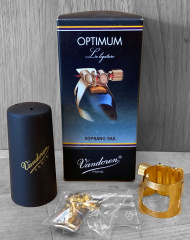 Vandoren Optimum Ligature - Soprano Sax (Gold-Plated)