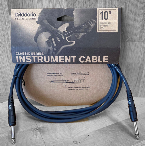 "D'Addario Classic Series Instrument 1/4"" to 1/4"" Cable"