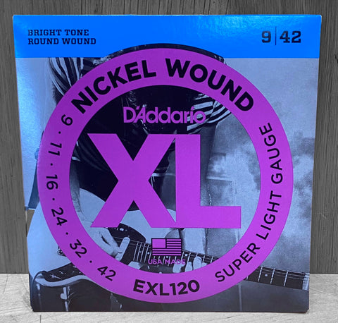 D'Addario EXL120 Electric Nickel Wound Strings - 9|42