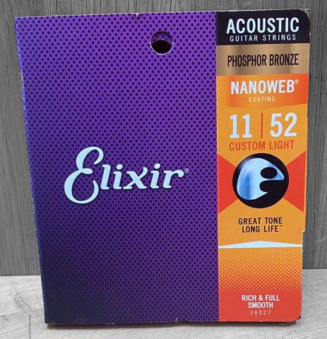 Elixir Nanoweb Coated Acoustic Strings - 11|52