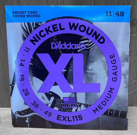 D'Addario EXL115 Electric Nickel Wound Strings - 11|49
