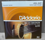 D'Addario EJ10 80/20 Extra Light Acoustic Strings 10|47