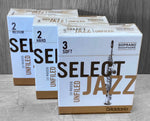 D'Addario Select Jazz Unfiled Soprano Saxophone Reeds - Box of 10