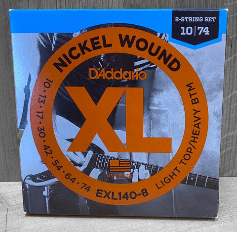 D'Addario EXL140-8 Electric Light Top/Heavy Bottom 8 String Set - 10|74