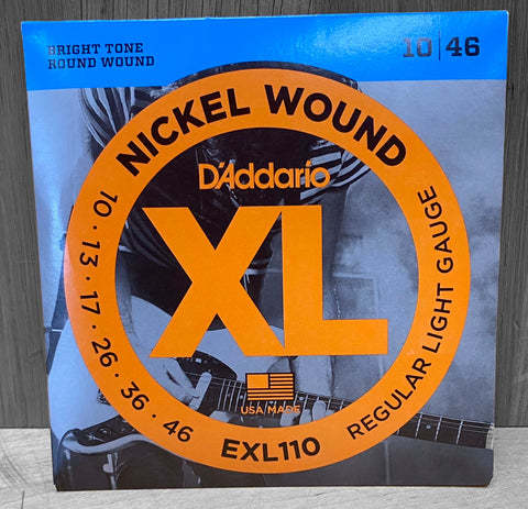 D'Addario EXL110 Electric Nickel Wound Strings - 10|46
