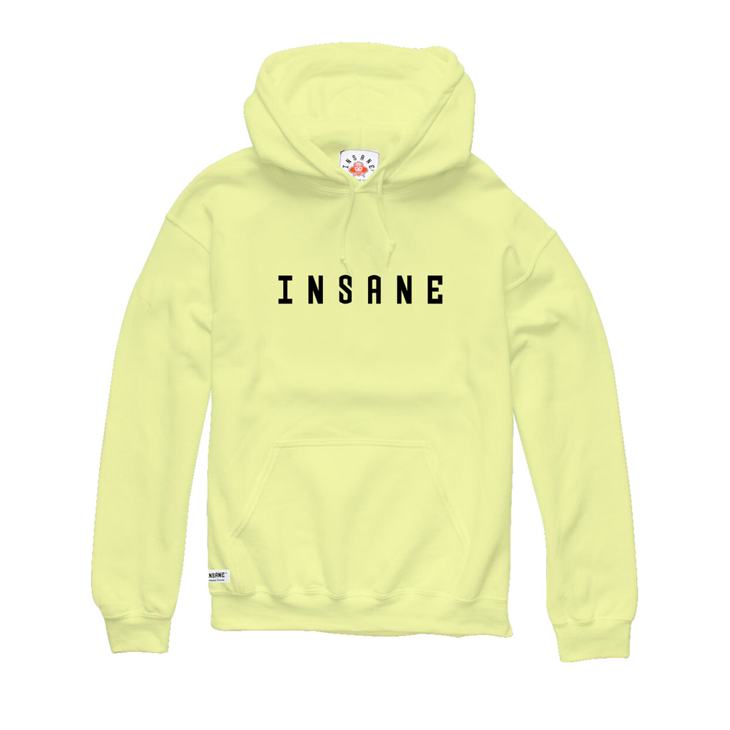 Men's Spell Out Hoodie 'Spell Out Acid Wash' (YELLOW)