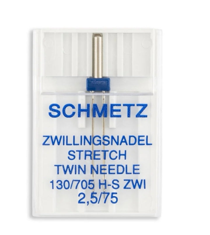 SCHMETZ SIZE 2.5MM STRETCH BALL POINT TWIN AIGUILLE DOUBLE - 2 1/2 MM