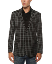 Load image into Gallery viewer, The Alton Plaid Slim Fit Mens Blazer - Ferrecci USA