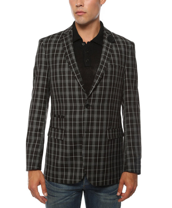 The Alton Plaid Slim Fit Mens Blazer - Ferrecci USA
