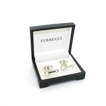 Load image into Gallery viewer, Silvertone Bottle Opener Cuff Links With Jewelry Box - Ferrecci USA