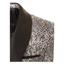 Load image into Gallery viewer, Ash Black and White Snake Skin Tuxedo Blazer - Ferrecci USA